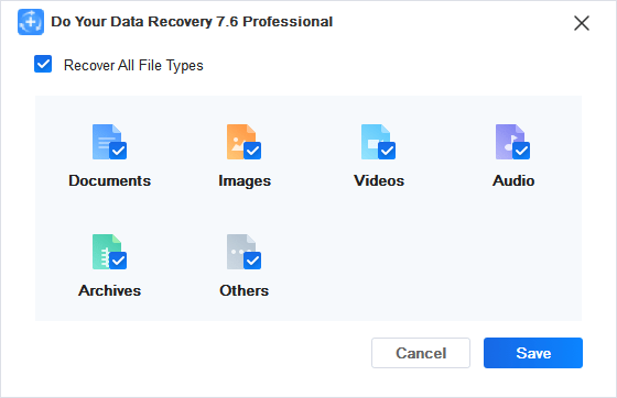 DYDR File Types Choice